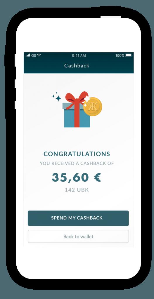 receive cashback - Unbank